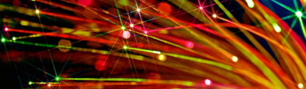 fiber optic colorful lights with glomers website header