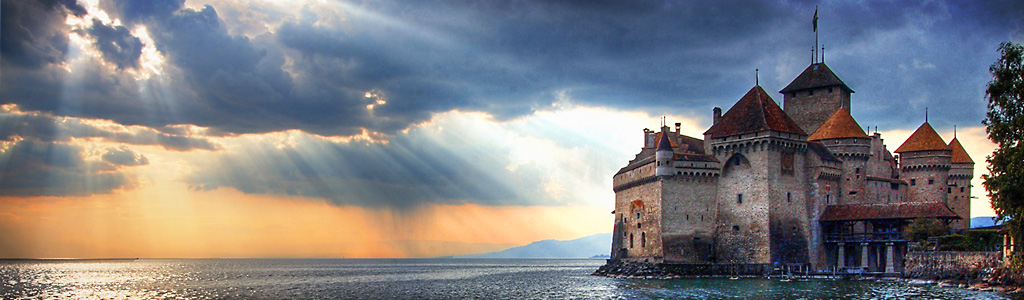 chillon castle in geneva switzerland header